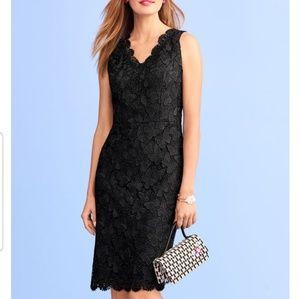 RSVP by Talbots black lace sheath dress